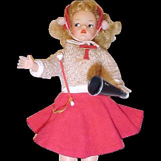 2 TAMMY Ideal dolls Cheerleader outfit baton megaphone