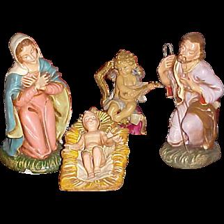 """Fontanini Italy Holy Family Infant Jesus, Joseph, Mary and Angel 8"""""""