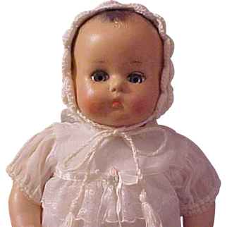 "16"" fully restored R and B Arranbee Little Angel Baby 1930's compo cloth"