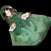 """21"""" Cissy Scarlett Madame Alexander in original green velvet gown"""