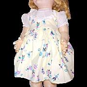 "2 Vintage Ideal Factory dresses for 21"" HP Saucy Walker doll 1950's plus slip"