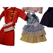 1960's and 1970's mod Barbie clothes nice lot tagged