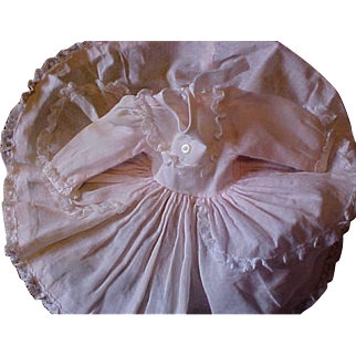 Vintage pink Swiss Dot Madame Alexander tagged Rebecca dress for Wendy