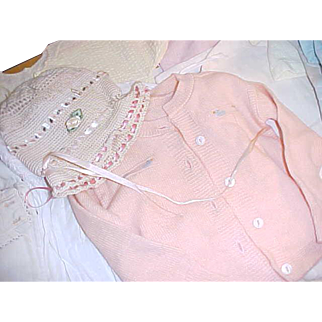 Large lot of antique baby clothes