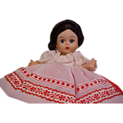 PRISTINE Alexander-Kin Russia with stand Madame Alexander doll