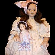 "29"" MIB Martina vinyl doll by German artist Rotraut Schrott"
