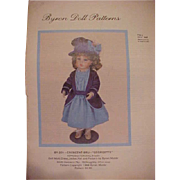 Uncut Byron Doll Pattern for Crescent Bru Georgette