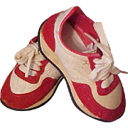 Paddington Bear Red and white saddle shoes sneakers also for doll England