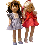 2 Hard Plastic IDEAL Toni P90 dolls for the price of 1