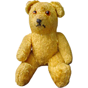 """5 1/2"""" Vintage worn loved mohair bear jointed"""