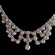 Vintage Festoon Open Back Crystal Necklace
