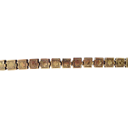 Antique Victorian G.F. Fancy Reversible Book Chain Bracelet