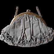 Beautiful  Edwardian Grosgrain Ruffled Evening Bag Purse