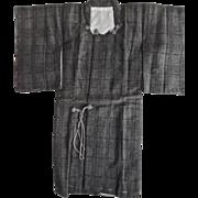 Vintage Japanese Salesman's Sample Miniature Man's Kimono Signed