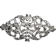 Vintage Big Lacy Edwardian Style Sterling Silver & Marcasite Pin