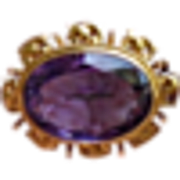 Antique Victorian 18K Solid Gold Amethyst Pin/Pendant