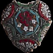 Old Italian Micro Mosaic Heart Pin