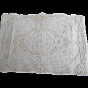 1920's Tape Princess Lace Placemats Pale Ecru Cotton