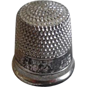 Vintage Sterling Silver Child's Thimble Size 6