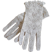 Vintage Cotton Lace Summer/ Wedding Gloves