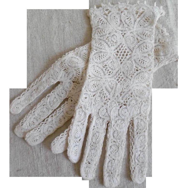 Vintage Cotton Gloves 42