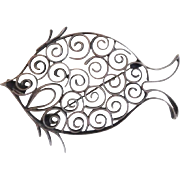 Vintage Taco Sterling Silver Fish Pin Pendant