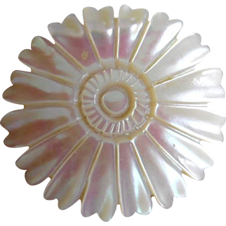 Vintage Mother of Pearl Blossom Pin