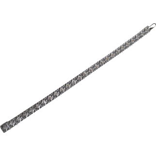 1920's Art Deco Sterling Silver Diamond Paste Bracelet