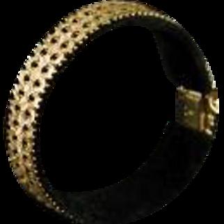 Vintage Italian 14K 585 Tri Color Gold Bracelet 1960's