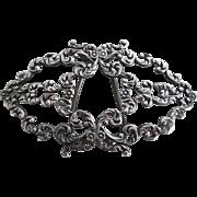 Victorian Sterling Silver Barrette Hair Ornament