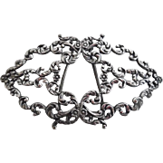 Victorian Sterling Silver Barrette Hair Ornament