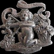 Vintage CINI Sagittarius Sterling Silver Pin