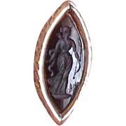 Antique Victorian Rolled Gold Plate Carnelian Intaglio Diana  Watch Fob