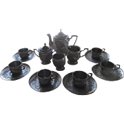 Victorian Child Size Soft Metal Tea Set