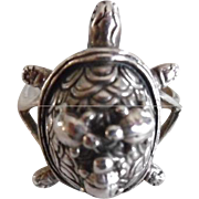 Vintage Sterling Silver Momma Turtle & Babies Ring
