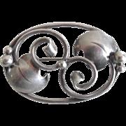 Vintage 1950-60's Sterling Danish Modernist Pin Signed SCF  S. Christian Fogh - Copenhagen