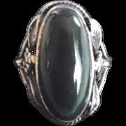 Antique Arts & Crafts Era Sterling Bloodstone Ring