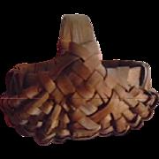 Antique Miniature New England Folk Art Handmade Egg Basket