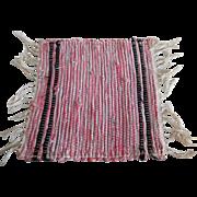 Vintage Dollhouse Size Hand Made Rag Rug