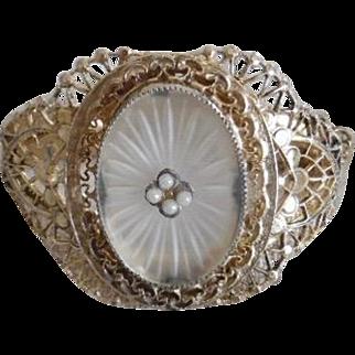 Vintage Whiting & Davis Camphor Glass Bracelet