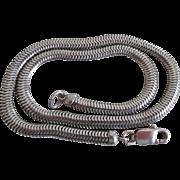 Vintage Sterling Silver Snake Chain Signed Fostner