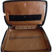 Vintage 1960's Dunhill Leather Travel  Case