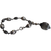 Fabulous Fifties Sterling Silver Danecraft Bauble Bracelet