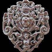 Vintage 800 Silver Italian Cherub Peruzzi Style Pin