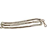 Antique 18K Solid Gold Lady's Watch Chain With Safety Clasp