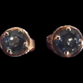 Vintage Beautiful 14K Sapphire Post Earrings