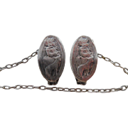 Antique Sterling Silver Mary Has A little LambChild's Sweater Clips