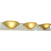 Modern Style 3 Light Bathroom Vanity Vintage Wall Sconce Amber Shades (ANT-435)