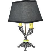 Art Deco Style Table Lamp with Two Candle Tube Lights Desk Light (ANT-530)