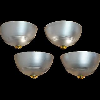 Streamline Art Deco Wall Sconces Set of 4 Modern Lights Fixtures (ANT-615)